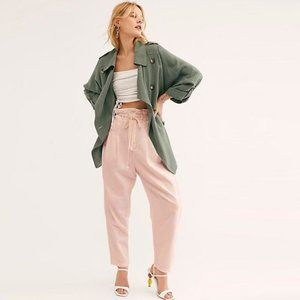 NWT FREE PEOPLE Margate Pleated Trouser Misty Rose
